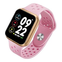 F8 Pro 1.3 Inch Touch Screen Smart Bracelet Support Sleep Monitor Blood Pressure Monitoring Blood Oxygen Monitoring Heart Rate Monitoring Shell Color:gold Pink