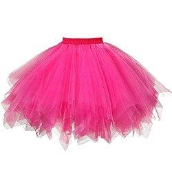 2ba20cd6f Inkach Women Tutu Costume Adult Dance Tutu Skirt Ballet Tulle Skirts Short  Fluffy Petticoat Hot Pink