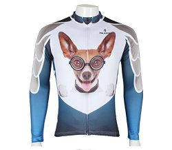 Elastic Highly Cycling Jersey Sportswear Breathable Outdoor Long Sleeve XXL Dog