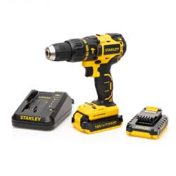 Stanley Brushless 18V Cordless Hammer Drill - 2 X 2AH Battery In Kitbox