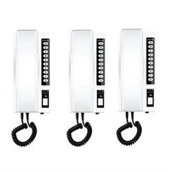3PCS Wireless Intercom System 433MHZ Secure Interphone Handsets Exten
