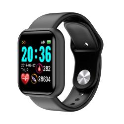 D20 1.3INCH Ips Color Screen Smart Watch IP67 Waterproof Support Call Reminder heart Rate Monitoring blood Pressure Monitoring sedentary Reminder Black