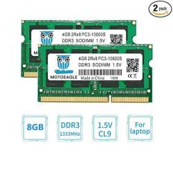 Motoeagle 8GB 2 X 4GB DDR3L PC3-12800 PC3L-12800S DDR3 1600MHZ PC3L 12800S  So Dimm Low Voltage Notebook Laptop RAM Memory 4GBX2 | R1477 00 |