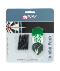 PUMA DARTS Combo Pack 6 Shaft And 9 Flights