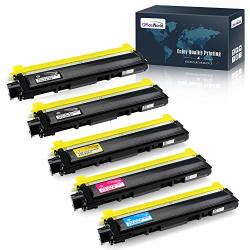 Officeworld Compatible Toner Cartridge Replacement For Brother TN210 TN-210 For Brother HL-3040CN HL-3070CW HL-3075CW MFC-9010CN MFC-9320CW MFC-9325CW DCP-9010CN Black Cyan Magenta Yellow 5-PACK