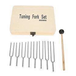 Jadpes Healing Tuning Fork 256HZ 288HZ 320HZ 341HZ 384HZ 426HZ Aluminum Alloy Chakra Tuning Fork Energy Instrument Tone Sound Repair Tool Meditation Kit To