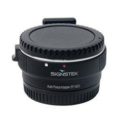 Signstek Newest Version Electronic Auto Focus Ef-nex Ef-emount Fx Lens Mount Adapter For Canon Ef Ef-s Lens To Sony E Mount Nex
