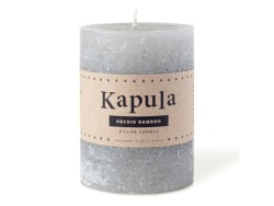 Orchid Bamboo Frosted Pillar Candle 420ML