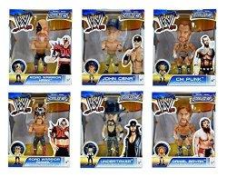 "W E 3.5"" Bobble Head Figures - Daniel Bryan Road Arrior Animal C M Punk Undertaker Road Arrior Hak & John Cena - Set Of 6"