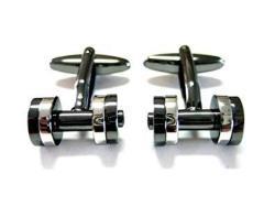Kiola Designs Dual Toned Dumbbell Cufflinks