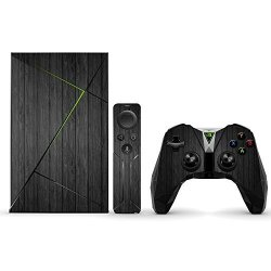 MightySkins Protective Vinyl Skin Decal For Nvidia Shield Tv Wrap Cover Sticker Skins Black Wood