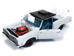 PLYMOUTH 1969 Road Runner Post Coupe White Hemmings Muscle Machines Limited Edition To 1002 Pieces Worldwide 1 18 Diecast Model
