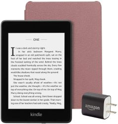 Kindle Paperwhite Bundle Including Kindle Paperwhite Plum Leather Cover