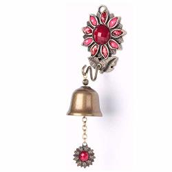 Anahbell Shopkeepers Door Bell Store Entry Door Chime Home Decoration - SUNFLOWER1 Bell Red