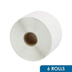 "Rok 6 Roll 2-1 4"" X 1-1 4"" Direct Thermal Barcode 1000 White Shipping Sticker Labels Zebra LP2824 TLP2824 GC420D GC420T GK420D GK420T GX420D GX420T GX430T LP2844"