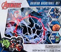 Avengers Or Super Mario 3 Pieces Bathtub Basketball Set For Boys +3 Years Avengers