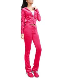 NE People Womens Velour Cotton Hoodie And Sweatpants Tracksuit Set Rose Small