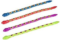 Fun Express Assorted Color Wiggle Snakes Action Figure 3 Dozen