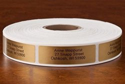 Personalized Self-stick Address Labels Classic Gold Roll Of 1000