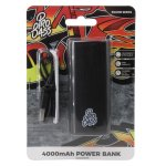 Pro Bass Engine Series 4000MAH Powerbank- Black
