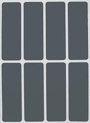 Royal Green 3X1 Labels Color Code Gray Stickers Rectangle Label For Filing - 40 Pack