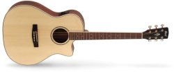 Cort Ga-medx Grand Regal Series Acoustic Electric Guitar With Bag Open Pore Natural
