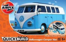 Airfix - Quick Build: Vw Camper Van - Blue