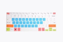 Leze - Ultra Thin Silicone Keyboard Cover Skin Protector For Dell Xps  15-9550 15-9560 Precision 15-5510 M5510 15 6