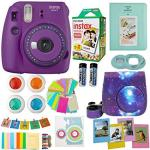 Fujifilm Instax MINI 9 Camera Usa + Accessories Kit For Camera Includes Instant Camera + Fuji Instax Film 20 Pk Case