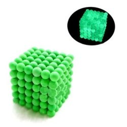5MM 216PCS Magic Strong Fluorescent Buck Ball Creative Imanes Magnetic Stress Relive Toys With Box