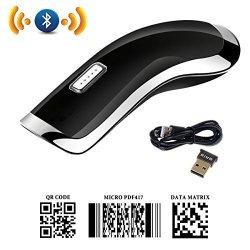 Powerrider 2D Bluetooth Barcode Scanner MINI USB Qr PDF417 Data Matrix Barcode Reader Ccd Wireless Bar Code Reader For Iphone Android windows