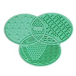 MaiYi Silicone Makeup Brush Cleaning Mat Portable Beauty Washing Tool Scrubber With Suction Cup