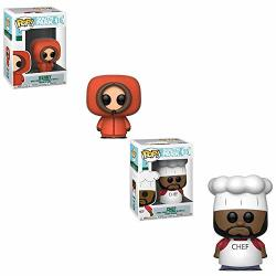 Funko Pop South Park Cartoon: Kenny And Chef Toy Action Figure - 2 Pop Bundle