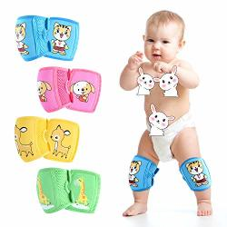 Zukocert Adjustable Baby toddler Knee Pads 4 Pieces Crawling Knee Pads Learn To Walk Breathable Non-slip Babies Knee Pads