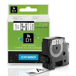 ".Dymo Dymo Labelmanager 400 D1 High-performance Tape Cartridge 1"" X 23 Ft Black On White"