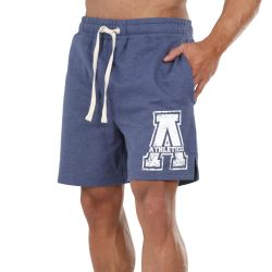 Athletico Small Mens A-Logo Shorts in Navy & White