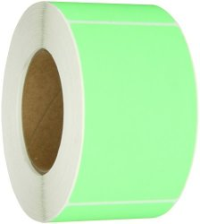 """Aviditi DL632J Rectangle Inventory Color Coded Label 5"""" Length X 3"""" Width Fluorescent Green Roll Of 500"""