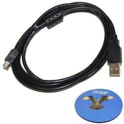 Hqrp Long 6FT USB To MINI USB Cable For Gopro HERO3 Hero 3 HERO4 Hero 4 Black Silver White Edition CHDHX-301 CHDHN-301 CHDHE-301 CHDHX-401