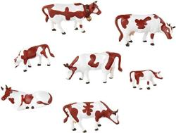 USA Noch 15723 Brown & White Cows 7 H0 Scale Figures
