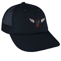 Aircraft Mechanic Embroidery Design Low Crown Mesh Golf Snapback Hat Navy