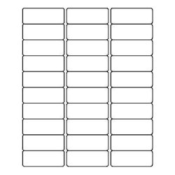 Quill Address Labels White 1X2-5 8 750 Labels