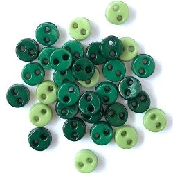 Buttons Galore Micro Round Buttons 80 Pieces - Rainforest