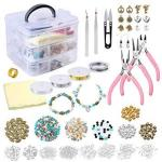 PP OPOUNT Jewelry Making Supplies Kit Includes Assorted Beads Charms Findings Pliers Cutters Tweezers Bead Wire And Cord Storage