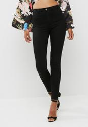 Missguided Lawless High Waisted Super Stretch Skinny - Black