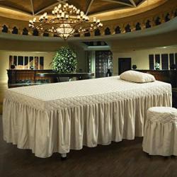 Hjyyxl Luxurious Massage Table Sheet Massage Table Skirt European Thicken Bed Skirt Sheet Beauty Body Massage Bed Cover-j 70X185