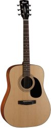 Cort AD810 Op Standard Series Dreadnought Acoustic Guitar Open Pore Natural