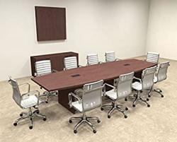 Modern Boat Shaped 12' Feet Conference Table OF-CON-C62