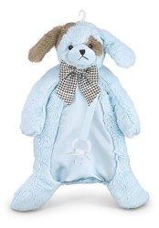 Bearington Collection Bearington Baby Waggles Pacifier Pet Blue Puppy Plush Stuffed Animal Lovie And Paci Holder 15