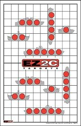 EZ2C Targets Style 22 - Sink The Boats Shooting Range Fun Game 25 Pack