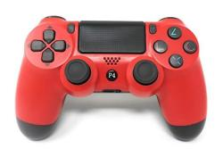 Chasdi V2 PS4 Controller Wireless Bluetooth With USB Cable For Sony Playstation 4 Compatible With Windows PC & Android Os Red